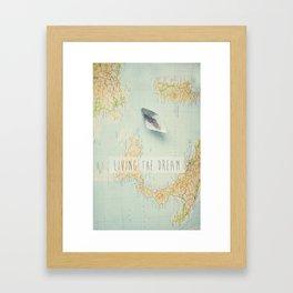 Map - living the dream Framed Art Print