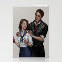bioshock infinite Stationery Cards featuring Bioshock Infinite Vigor Poster by Camila Vielmond