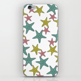 starfish tropical print iPhone Skin