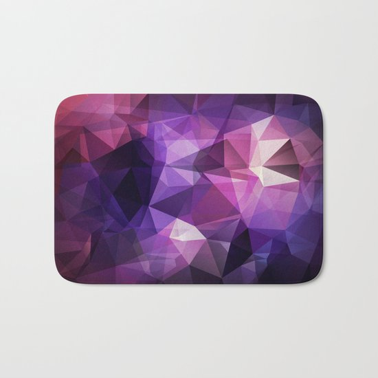 Abstract background of triangles polygon design bright colors Bath Mat
