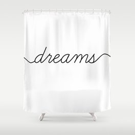 sweet dreams (2 of 2) Shower Curtain