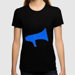 Blue Isolated Megaphone T-shirt