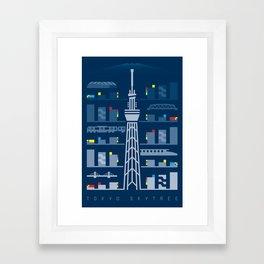 Tokyo Skytree Framed Art Print