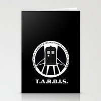 agents of shield Stationery Cards featuring Agents of TARDIS black and white Agents of Shield, Doctor Who mash up by Whimsy and Nonsense