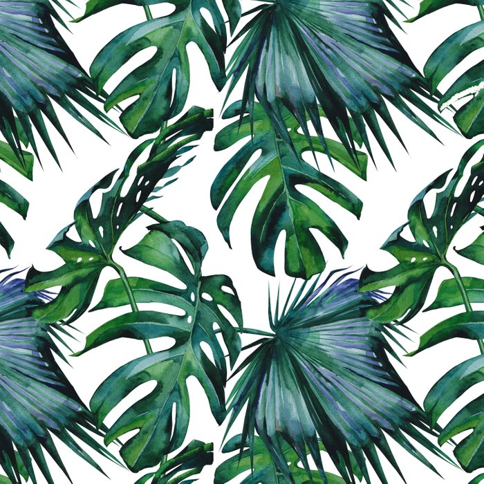 Tropical Palm Leaves Classic Duvet Cover By