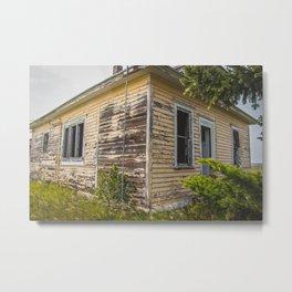 The Yellow House, Arena, North Dakota 5 Metal Print