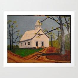 Cades Cove Methodist Church Art Print
