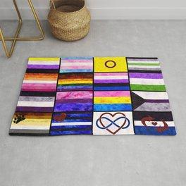 Pride Flag Collage Rug