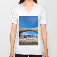 alabama V-neck T-shirts featuring Alabama Arch by davehare