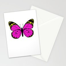 Pink Butterfly Stationery Cards