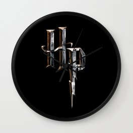 Low Poly HP Crest Wall Clock