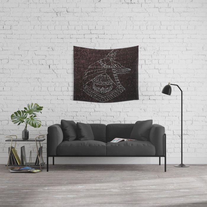 Anubis Egyptian God Wall Tapestry