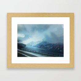 winter scenery Framed Art Print