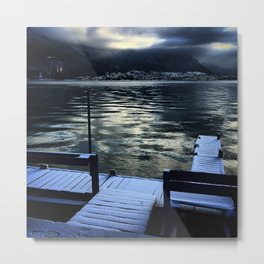 Dark Annecy Lake Metal Print