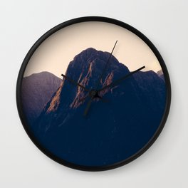 Sunset over Milford Sound in New Zealand Wall Clock
