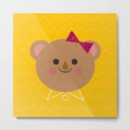 Dressy Bear Metal Print