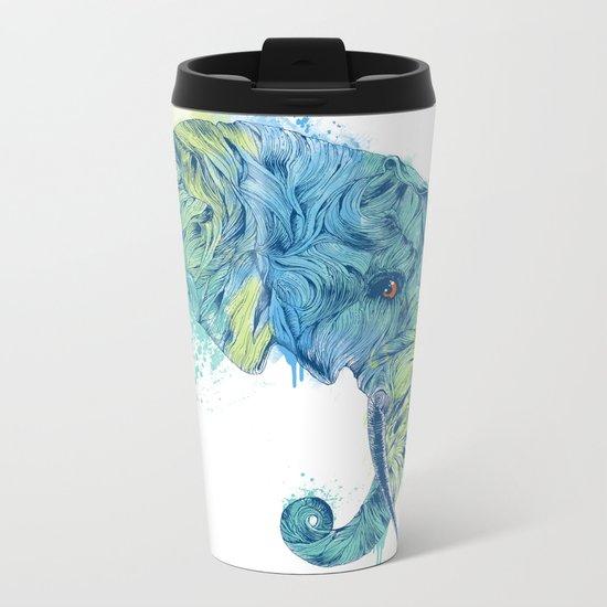 Elephant Head II Metal Travel Mug