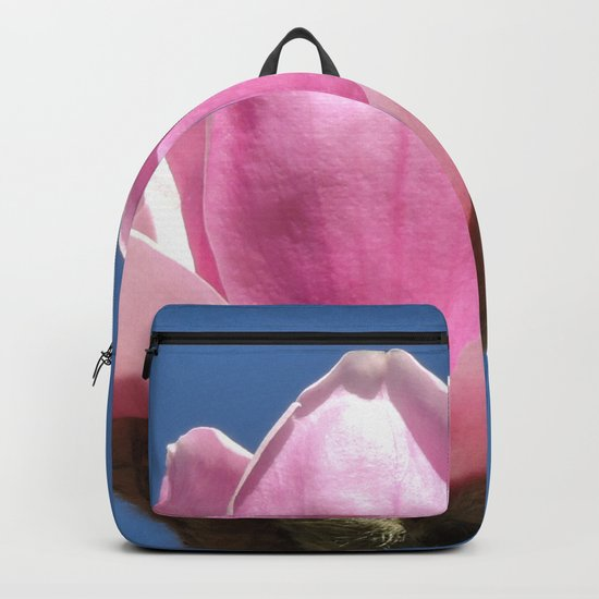 Magnolia Blossom on a Sky Blue Field Backpack