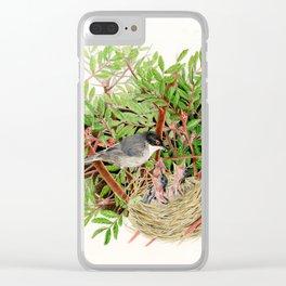Sardinian Warbler - nesting bird on the Ligurian coast Clear iPhone Case
