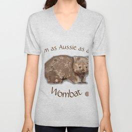 Aussie Wombat Design by Chrissy Wild Unisex V-Neck