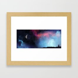 Listen. Can you imagine if space sounded like that? ♫ Framed Art Print