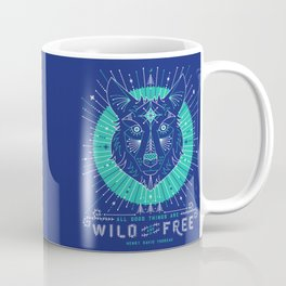 Wild & Free Wolf – Navy Coffee Mug