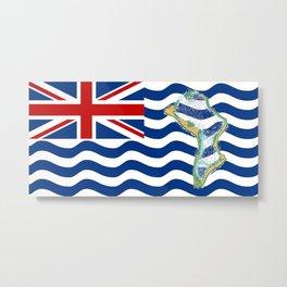 Diego Garcia Flag with Map of Diego Garcia Islands Metal Print