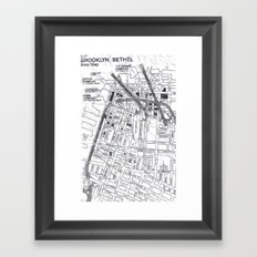 Map Framed Art Print