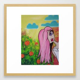 Garden Party Gal #3 Framed Art Print