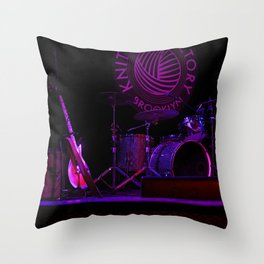 Neon Stage Throw Pillow