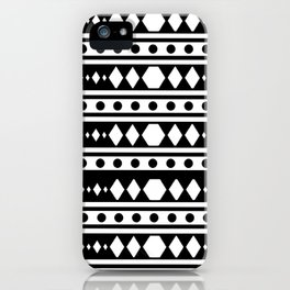 White tribal pattern iPhone Case