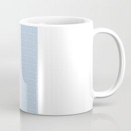 Light Blue Greek Key Pattern Coffee Mug