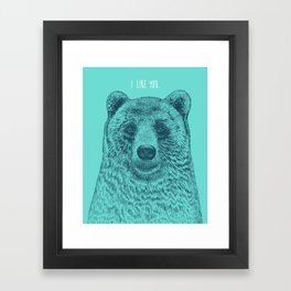 I Like You (Bear) Framed Art Print