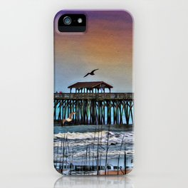 Myrtle Beach State Park Pier - Photo as Digital Paint iPhone Case