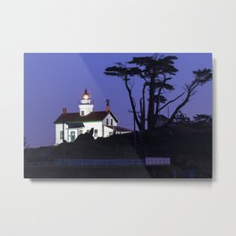 Battery Point Lighthouse after Sunset. Crescent City, California Metal Print