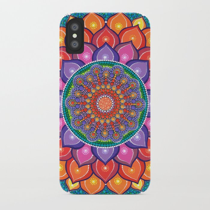 Lotus Rainbow Mandala iPhone Case