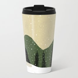 Badger in the Snow Travel Mug