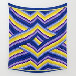Bargello Quilt Pattern Impression 2 Wall Tapestry