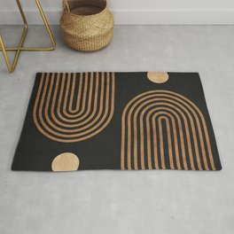 Arches - Minimal Geometric Abstract 2 Rug