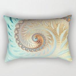 Vanilla Swirl - Fractal Art  Rectangular Pillow