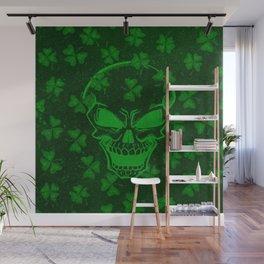 Vintage Skull St Patricks Day Retro Distressed Wall Mural