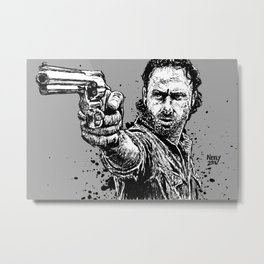 Rick Grimes, Total Badass. Andrew Lincoln from The Walking Dead. Metal Print