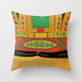 Buddha of the Future Throw Pillow