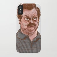 swanson iPhone & iPod Cases featuring Swanson by Hannah Joe