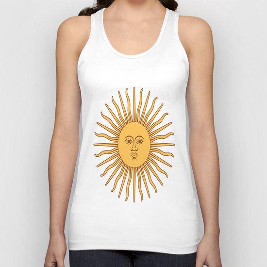 argentina flag sun Unisex Tank Top