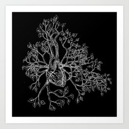 Heart (inverse) Art Print