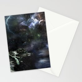 Snow Leopard Storms Stationery Cards
