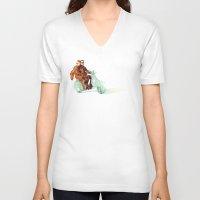 italian V-neck T-shirts featuring Vintage Italian by RadFive