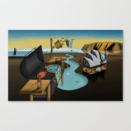 Where Time Stands Still - Surreal Sydney  Canvas Print