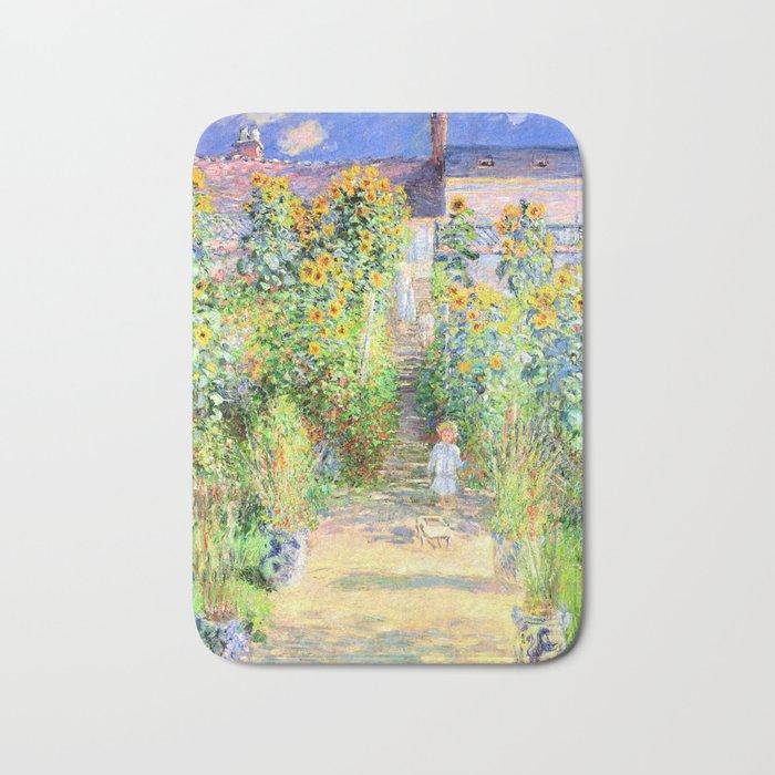 Monets Garden At Vetheuil Bath Mat